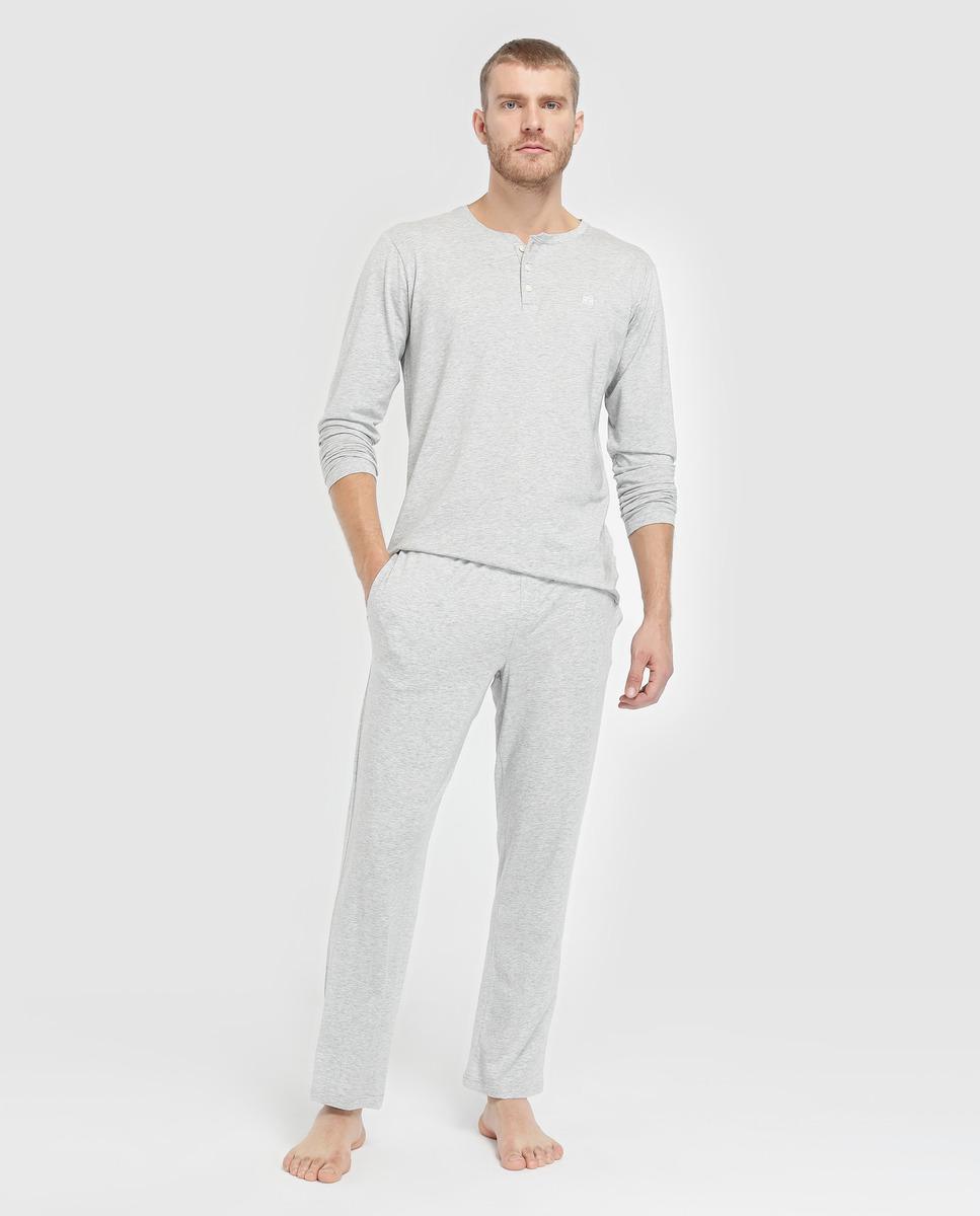 Boutique en ligne elige mejor amplia selección de colores Lyst - Tommy Hilfiger Grey Long Sleeve Pyjama Top in Gray ...