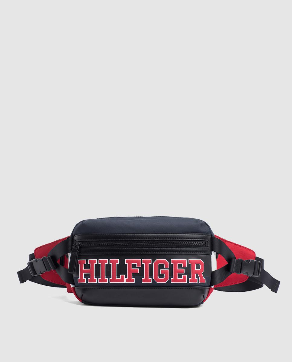 9734fcb66 Tommy Hilfiger Nylon Belt Bag Style Crossbody Bag With The Corporate ...