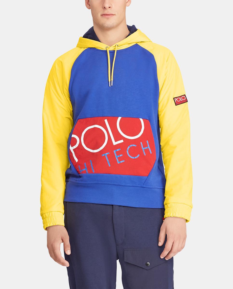 Polo Lyst Lauren Ralph Hooded In For Men Blue Sweatshirt Multicoloured rWdeCoxB