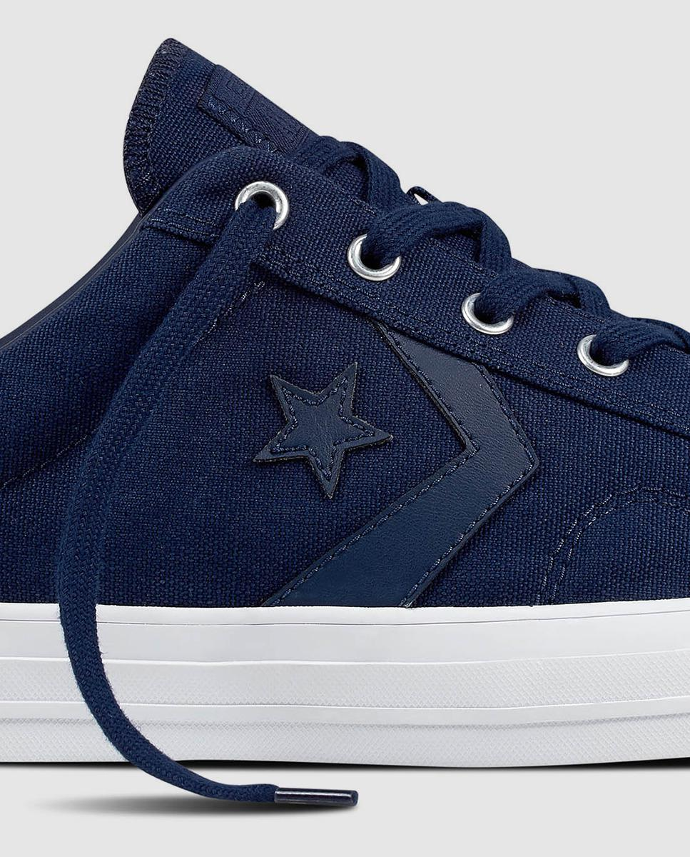 97c341f8a210 Lyst - Converse Star Player Navy Blue Canvas Trainers in Blue for Men