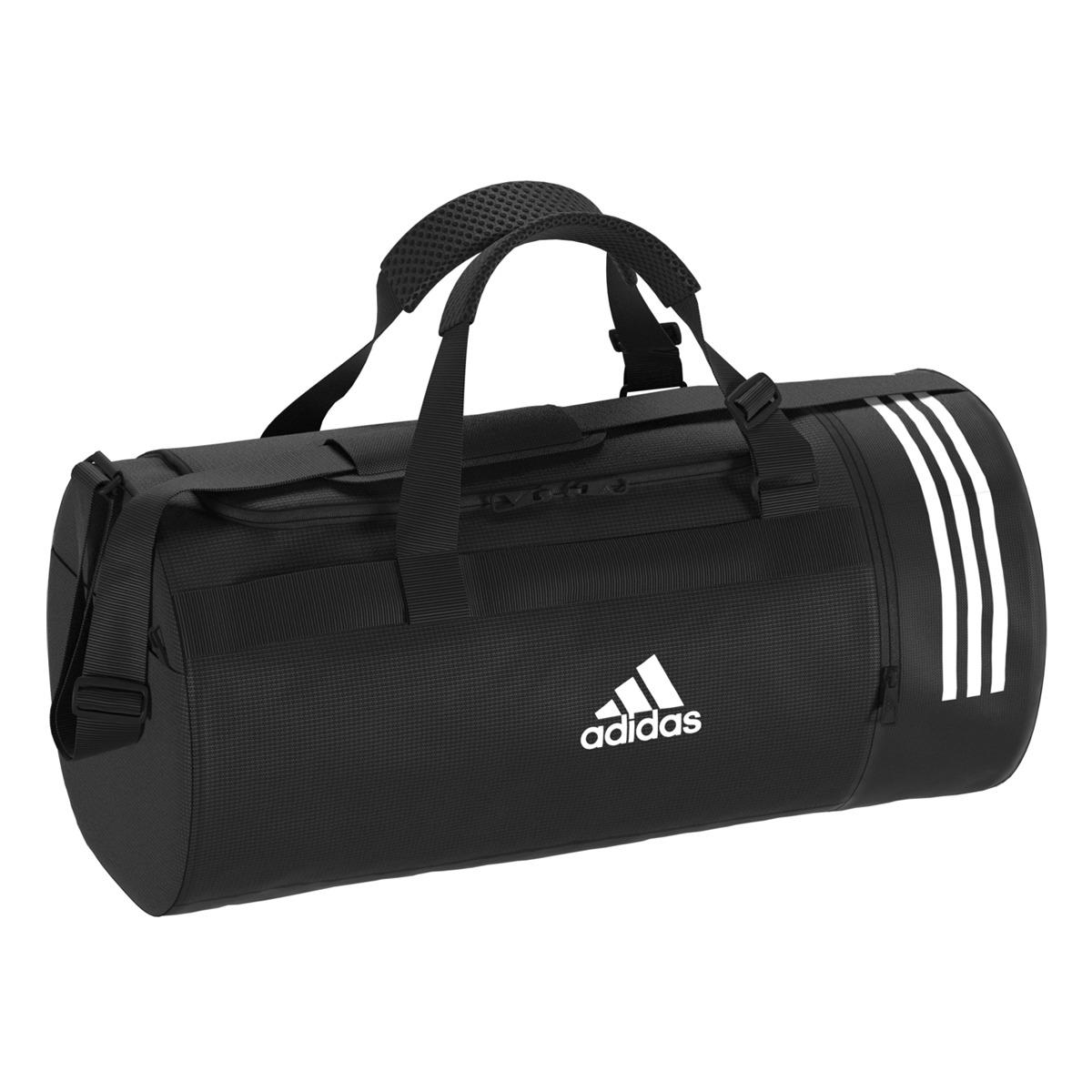 02fab20153 Lyst - adidas Convertible 3 Stripes Duffel M Sports Bag in Black for Men