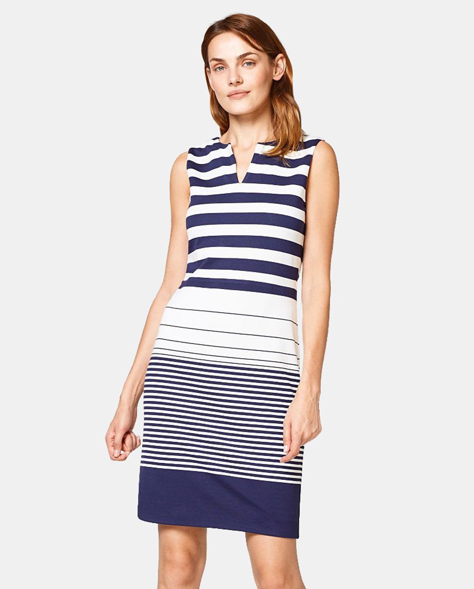 4eb7366482ffd9 Esprit Short Striped Dress in Blue - Lyst