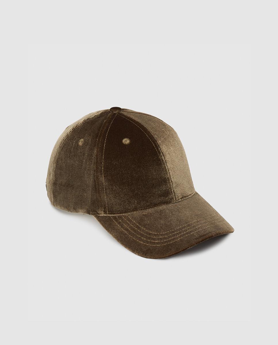 Lyst - El Corte Inglés Green Velvet Cap in Green 22cbb083d747