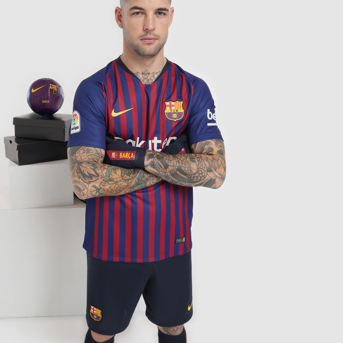 ba61e4241fa Nike. Men s Blue Fc Barcelona 2018-2019 Breathe Stadium Home Strip T-shirt.  £75 £53 From El Corte Ingles