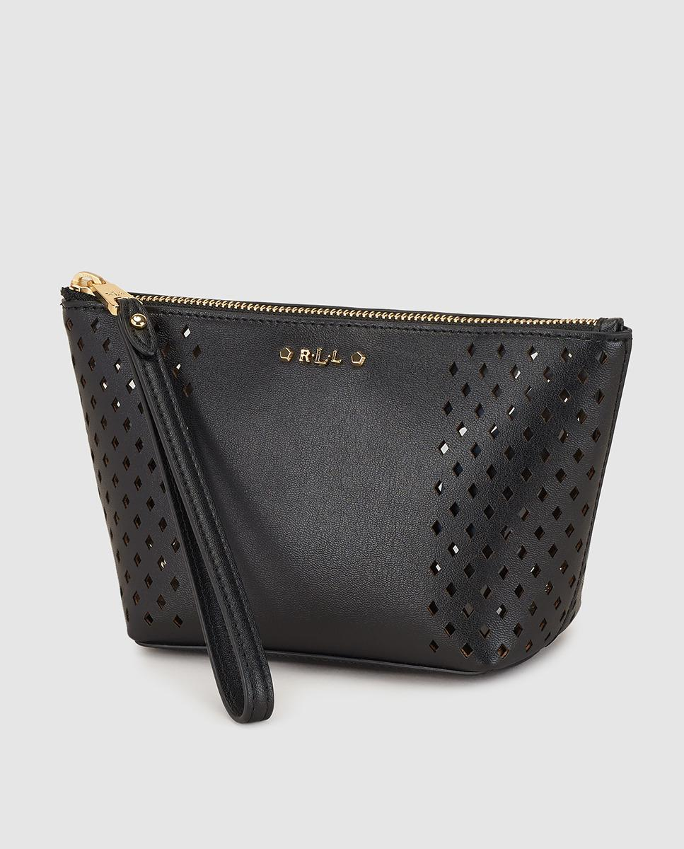 a2623f2933 Lyst - Lauren By Ralph Lauren Black Cutwork Toiletry Bag With Zip in ...