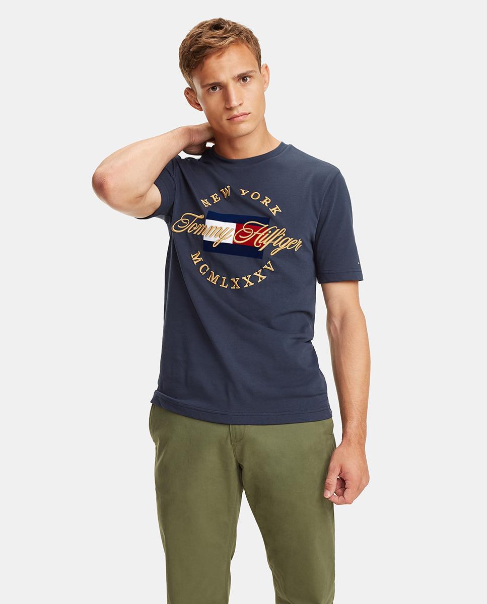 ef11ce06e9e57 Lyst - Tommy Hilfiger Icon Blue Short Sleeve Organic Cotton T-shirt ...