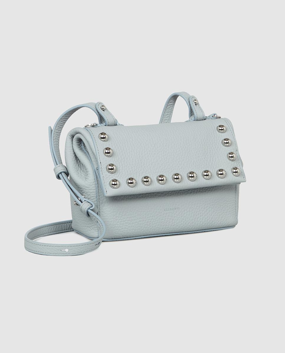 d09771242605 AllSaints Cami Pale Blue Leather Mini Crossbody Bag With Studs in Blue -  Lyst