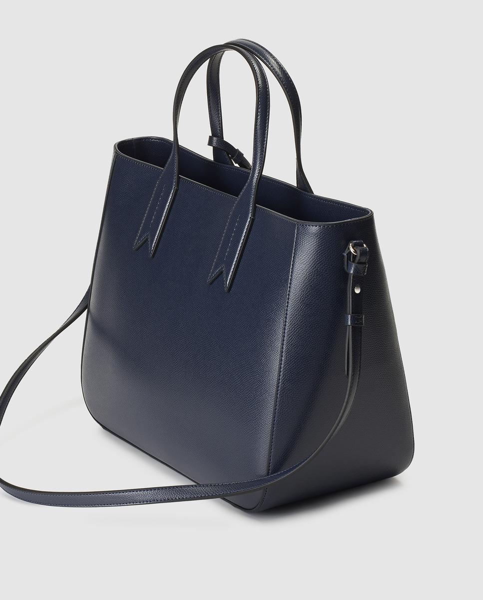3369bd614c Emporio Armani Navy Blue Tote With Zip in Blue - Lyst