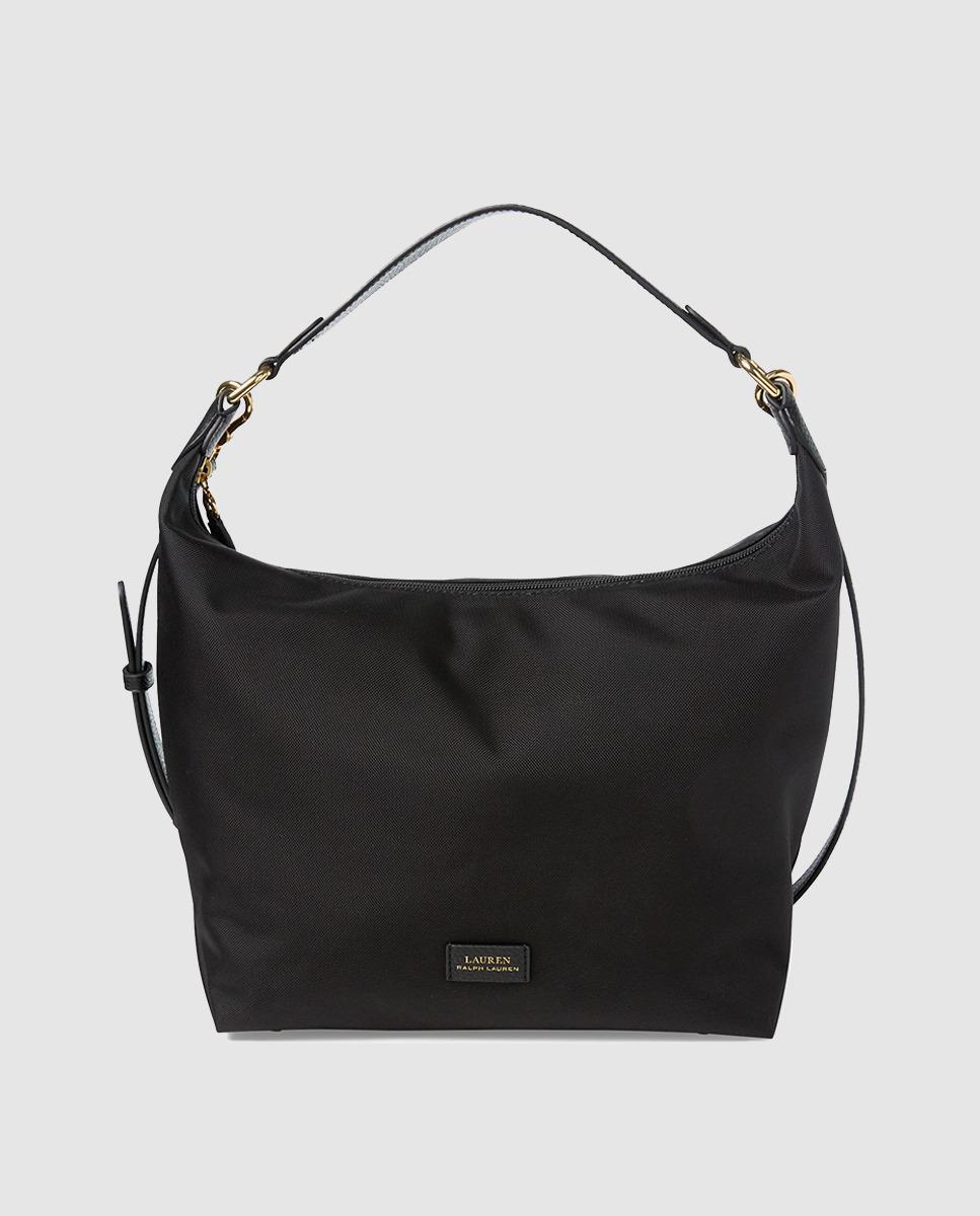 d8d4025dca90 Lauren by Ralph Lauren. Women s Medium Black Nylon Hobo Bag With Zip.  112  From El Corte Ingles