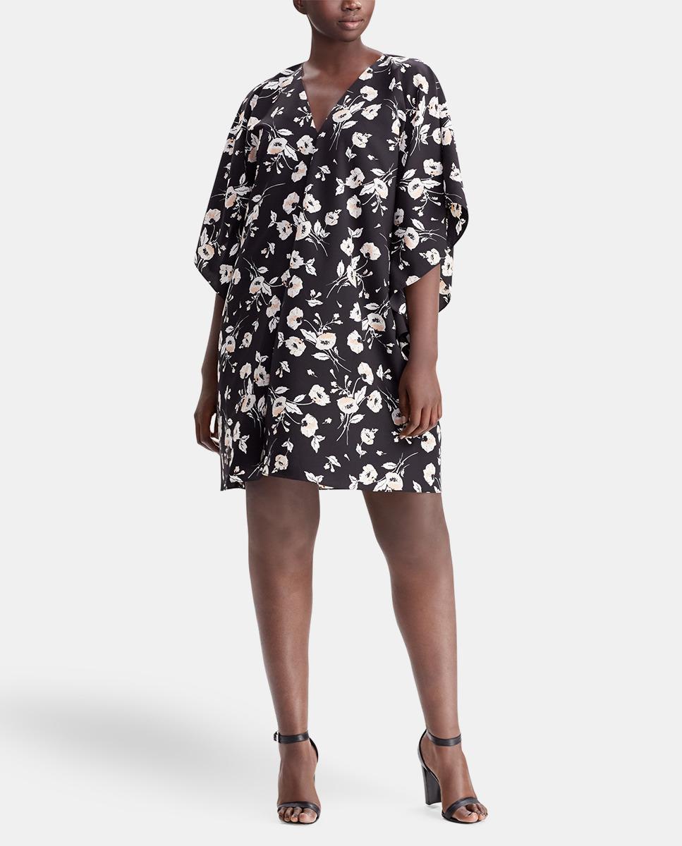 Denim \u0026 Supply Ralph Lauren. Women\u0027s Black Plus Size Short Floral Print  Dress