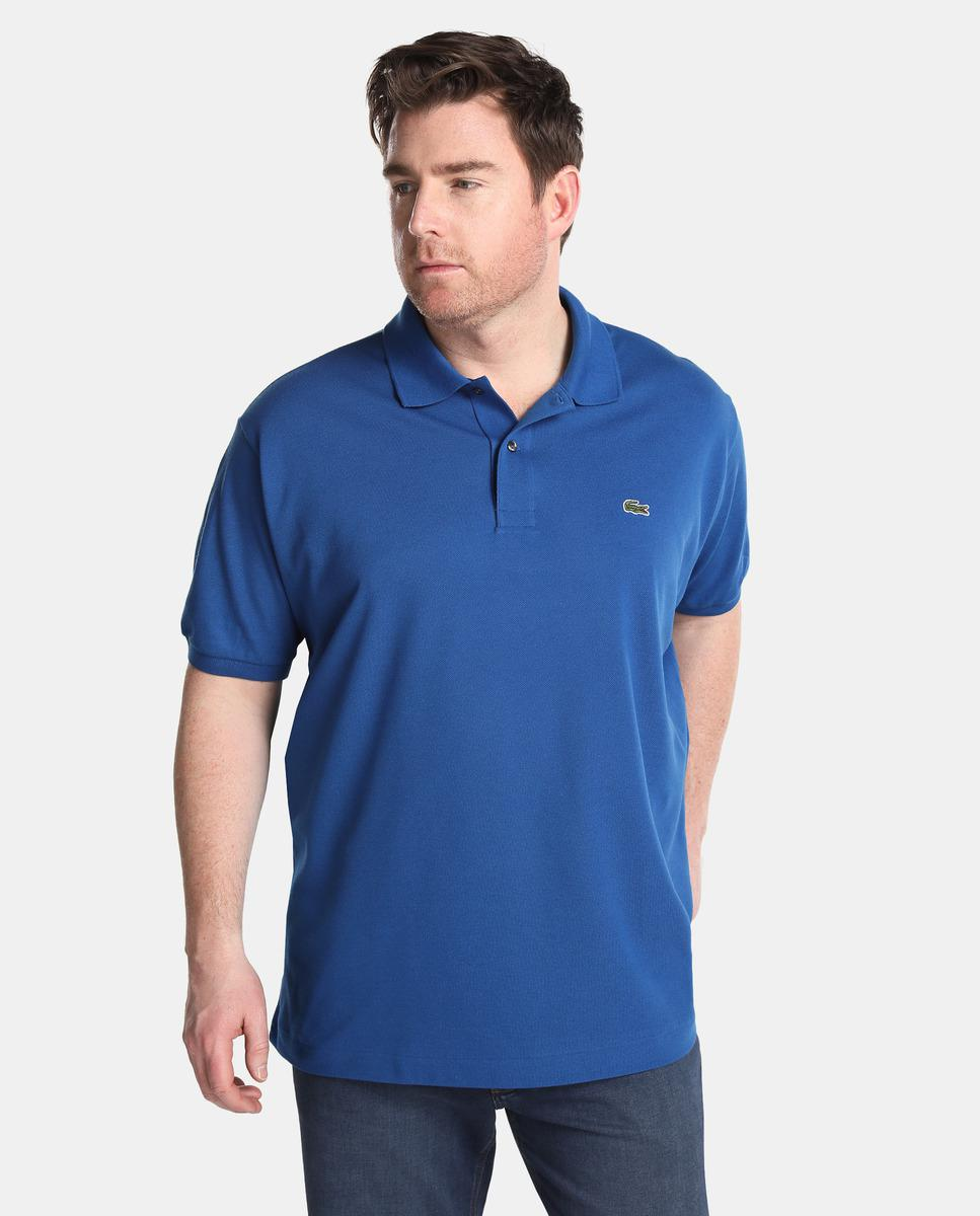 d4df9ce0 Lyst - Lacoste Big And Tall Blue Short Sleeved Piqué Polo Shirt in ...