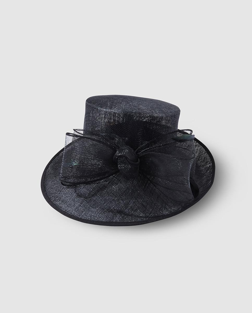 El Corte Inglés. Women s Black Wide-brimmed Sun Hat With A Bow Detail f28b86ed40a6
