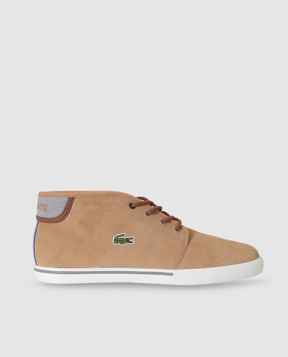 2b99445ff0477 Lacoste Brown Trainers With Logo in Brown for Men - Lyst