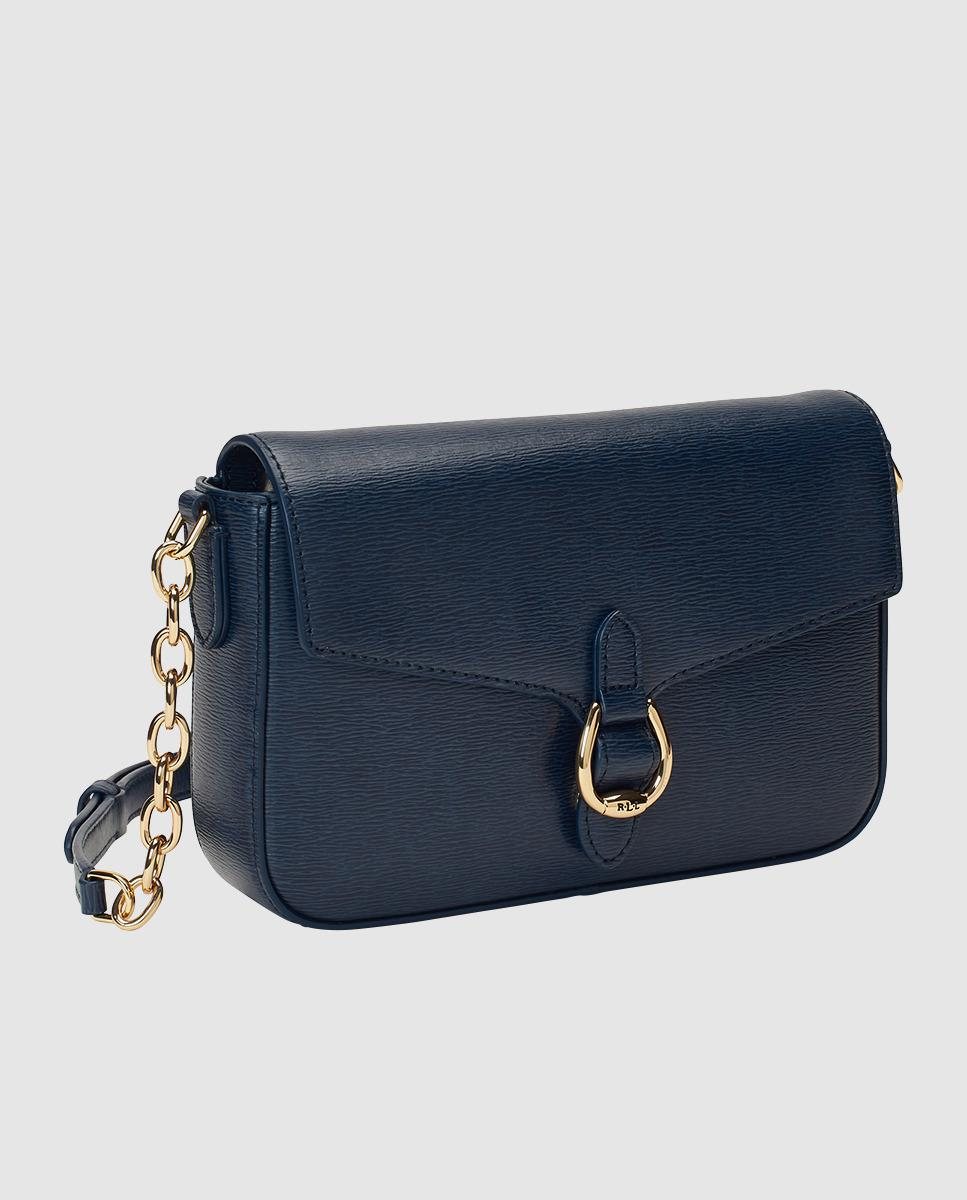 Lauren by Ralph Lauren Medium Navy Blue Saffiano Leather Crossbody Bag With  Magnet in Blue - Lyst c48c57affb8b7