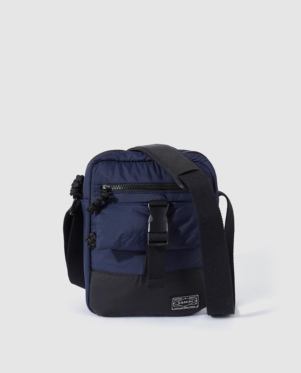 1260cde3a760 Jo   Mr. Joe Mens Navy Blue Messenger Bag With Outer Pockets in Blue ...