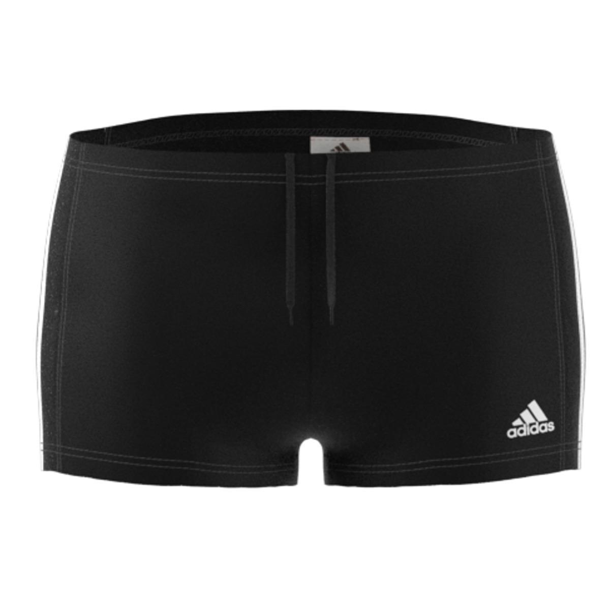 1b26f4b02a adidas Fitness Boxer 3 Stripes Swim Trunks in Black for Men - Lyst