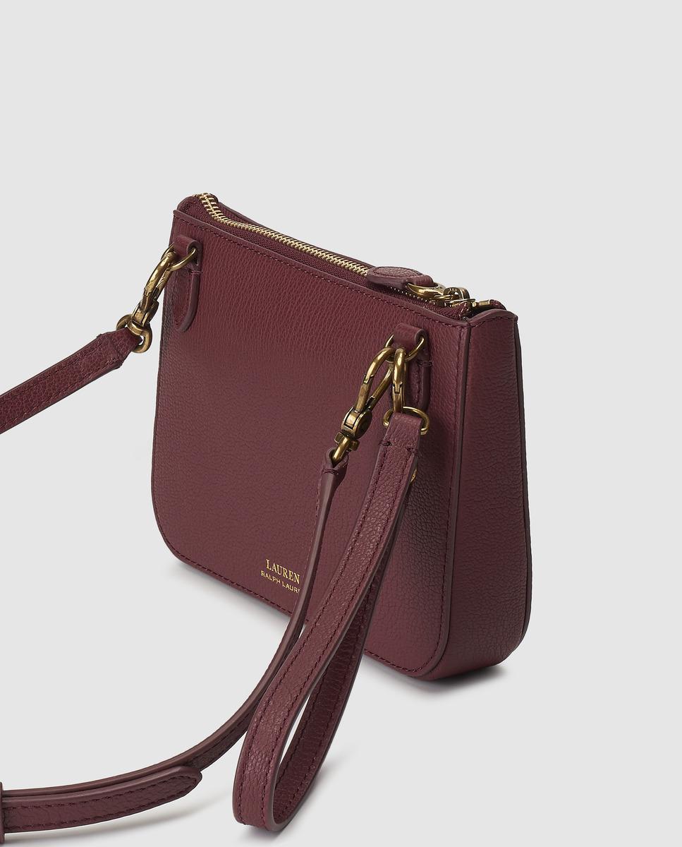 Lauren By Ralph Lauren Burgundy Leather Mini Handbag belt Bag - Lyst 68cbcb44799fe