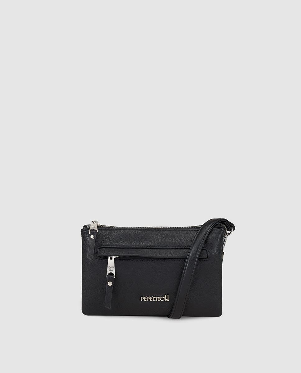 6f2082098696 Lyst - Pepe Moll Wo Small Black Crossbody Bag With Brand Detail in Black