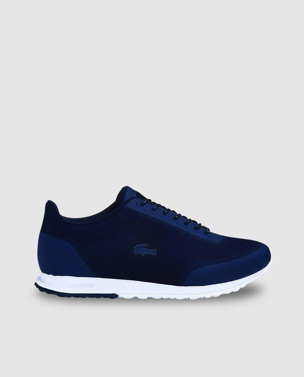 lyst lacoste blue sneakers in blue