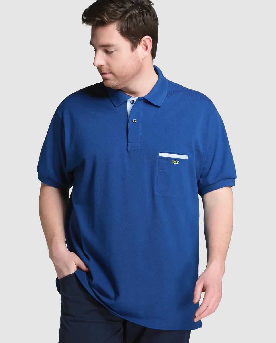 Lyst Lacoste Big And Tall Blue Short Sleeved Piqu Polo