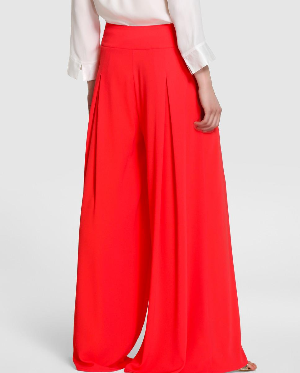 Yera Coral Palazzo Trousers In Pink