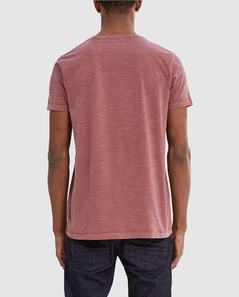 Lyst esprit short sleeve maroon t shirt in pink for men for Maroon t shirt for men