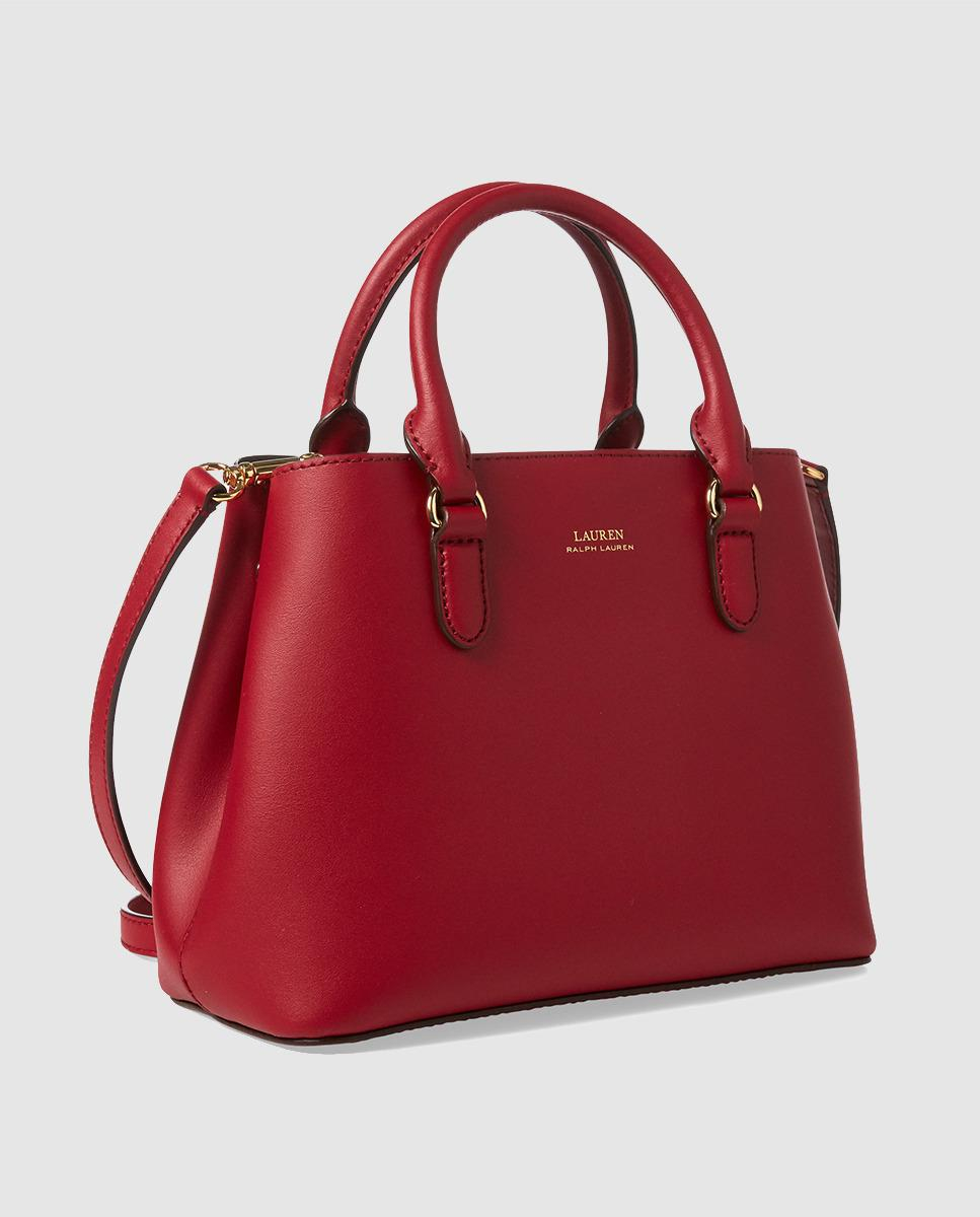 79e831d2781f Lauren by Ralph Lauren Red Leather Handbag With Brand Detail in Red - Lyst
