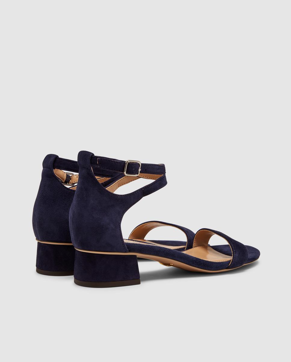 d93bb77985c Lyst - Lauren by Ralph Lauren Blue Suede High Heel Sandals. Betha ...