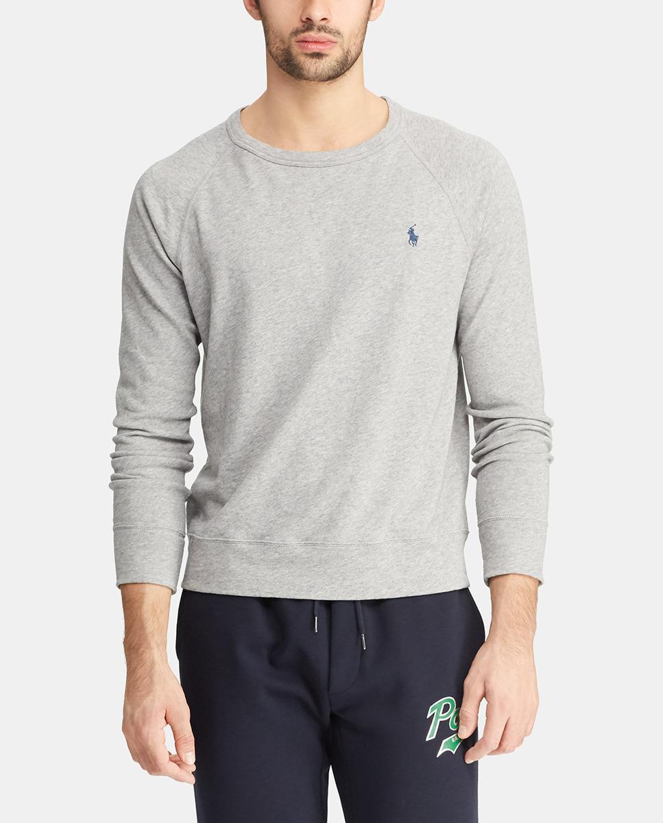 ff60692c069b Lyst - Polo Ralph Lauren Cotton Spa Terry Sweatshirt in Gray for Men ...