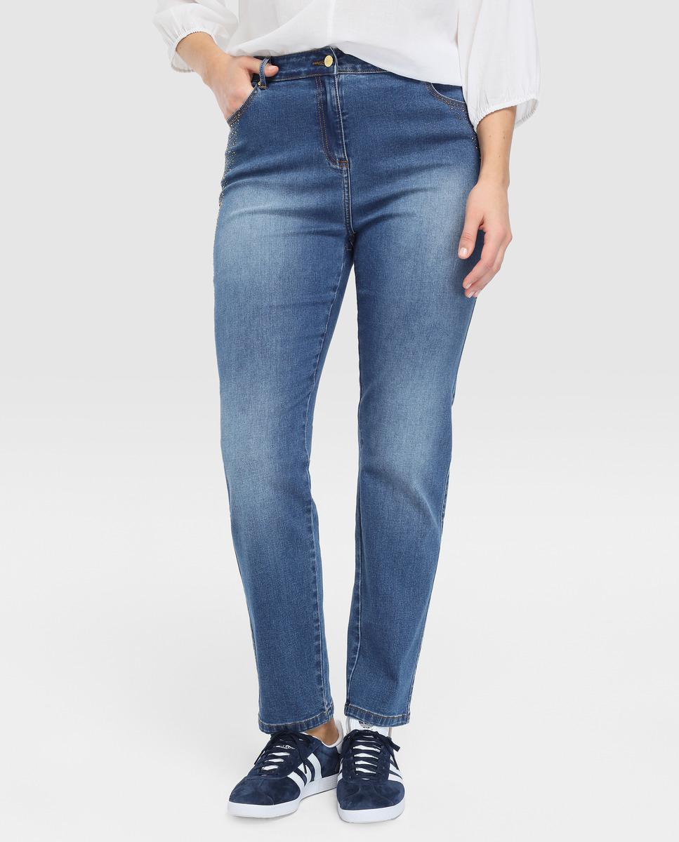 d7e1d2310b9c42 Couchel Plus Size Faded-effect Skinny Jeans With Diamanté in Blue - Lyst