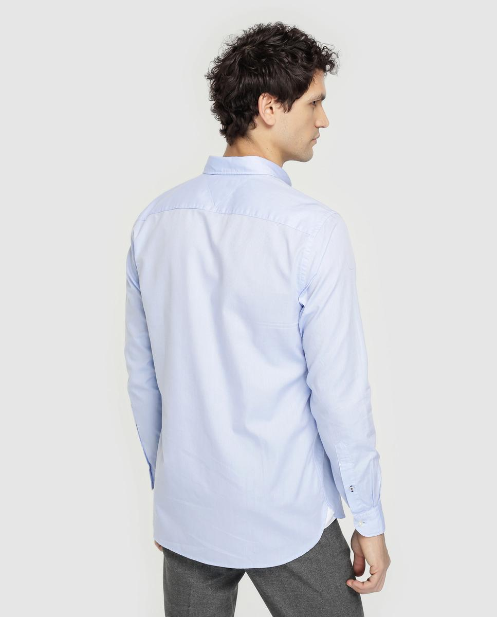08dbec1d3550af Tommy Hilfiger Regular-fit Plain Blue Shirt in Blue for Men - Lyst