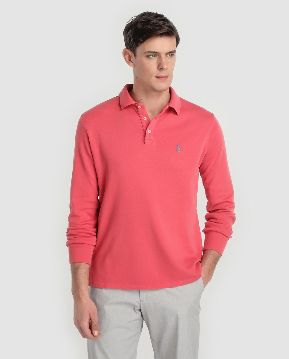 ea0a2457538a Lyst - Polo Ralph Lauren Coral Long Sleeve Regular-fit Polo Shirt in ...