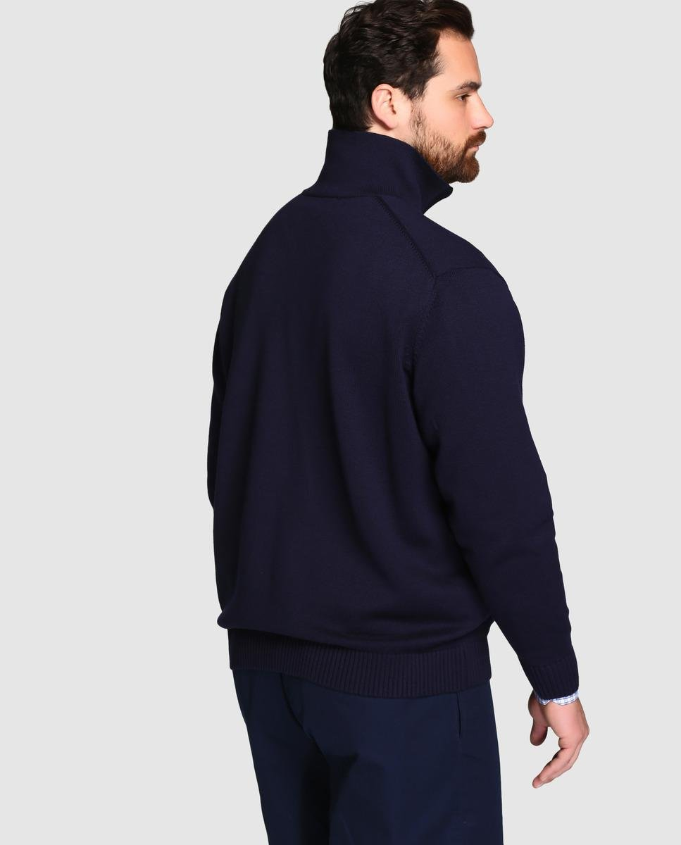 5f8ed9c534d2dc Lyst - Lacoste Big And Tall Blue Cardigan in Blue for Men