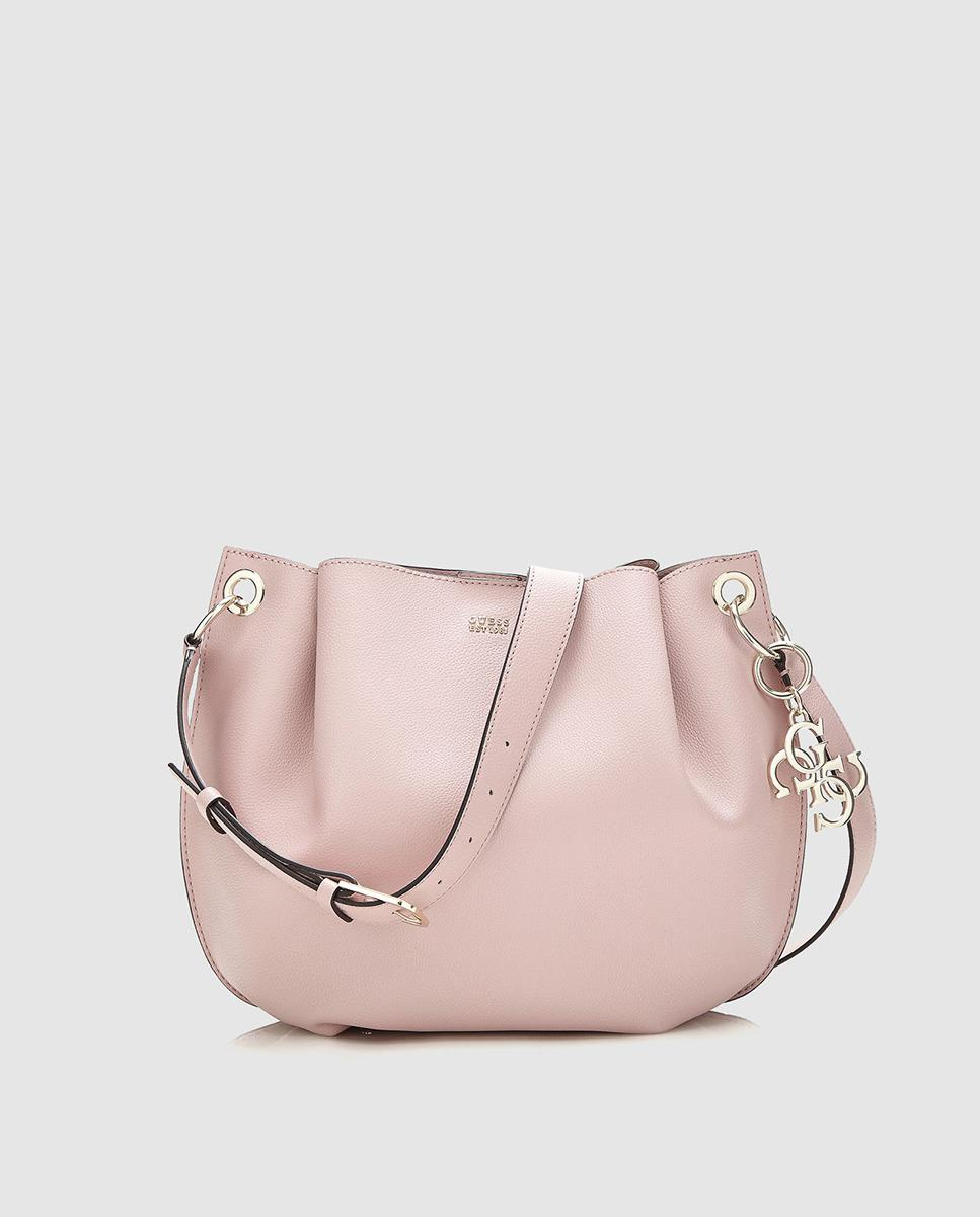 057d9b05cc Lyst - Guess Pink Shoulder Bag With A Removable Straps in Pink