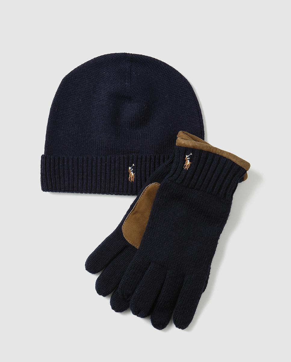 21f46904294 Lyst - Polo Ralph Lauren Hat + Scarf Accessories Set in Blue for Men