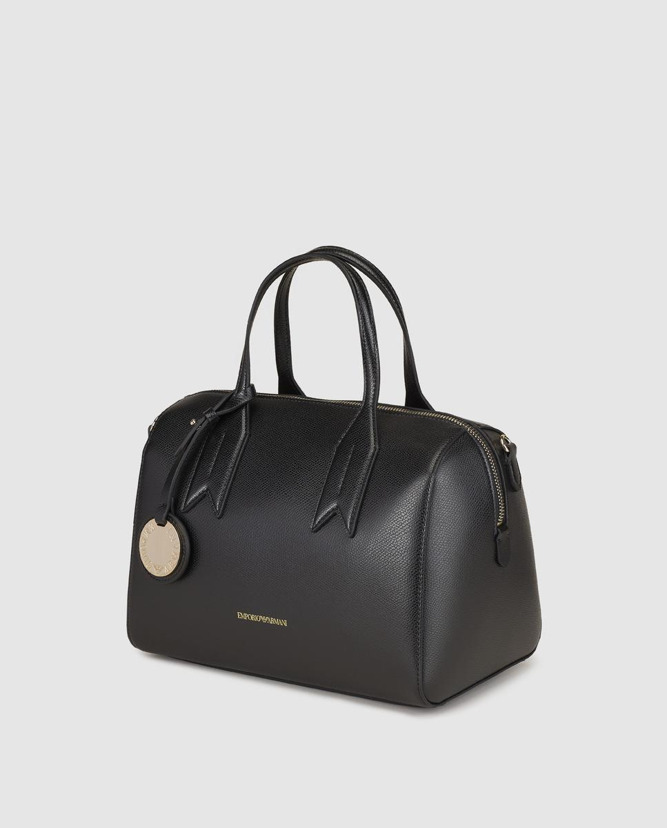 Emporio Armani Black Bowling Bag With Zip in Black - Lyst 5c36231d879ea