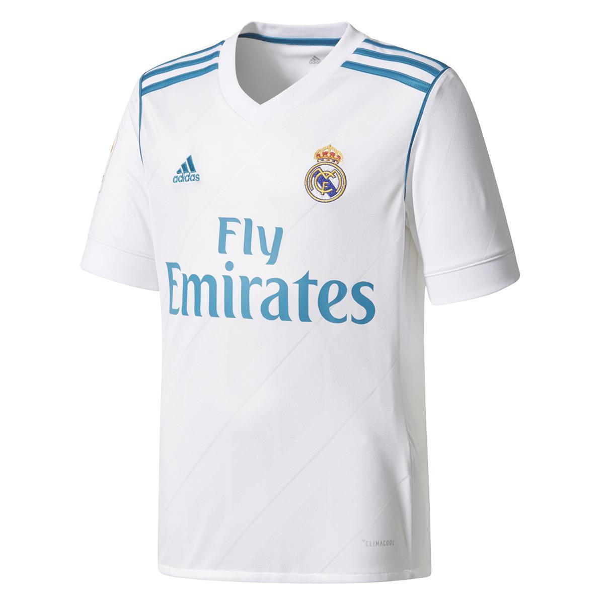 874363fea Adidas - White Real Madrid Cf 2017-2018 Asensio Home Strip T-shirt for.  View fullscreen