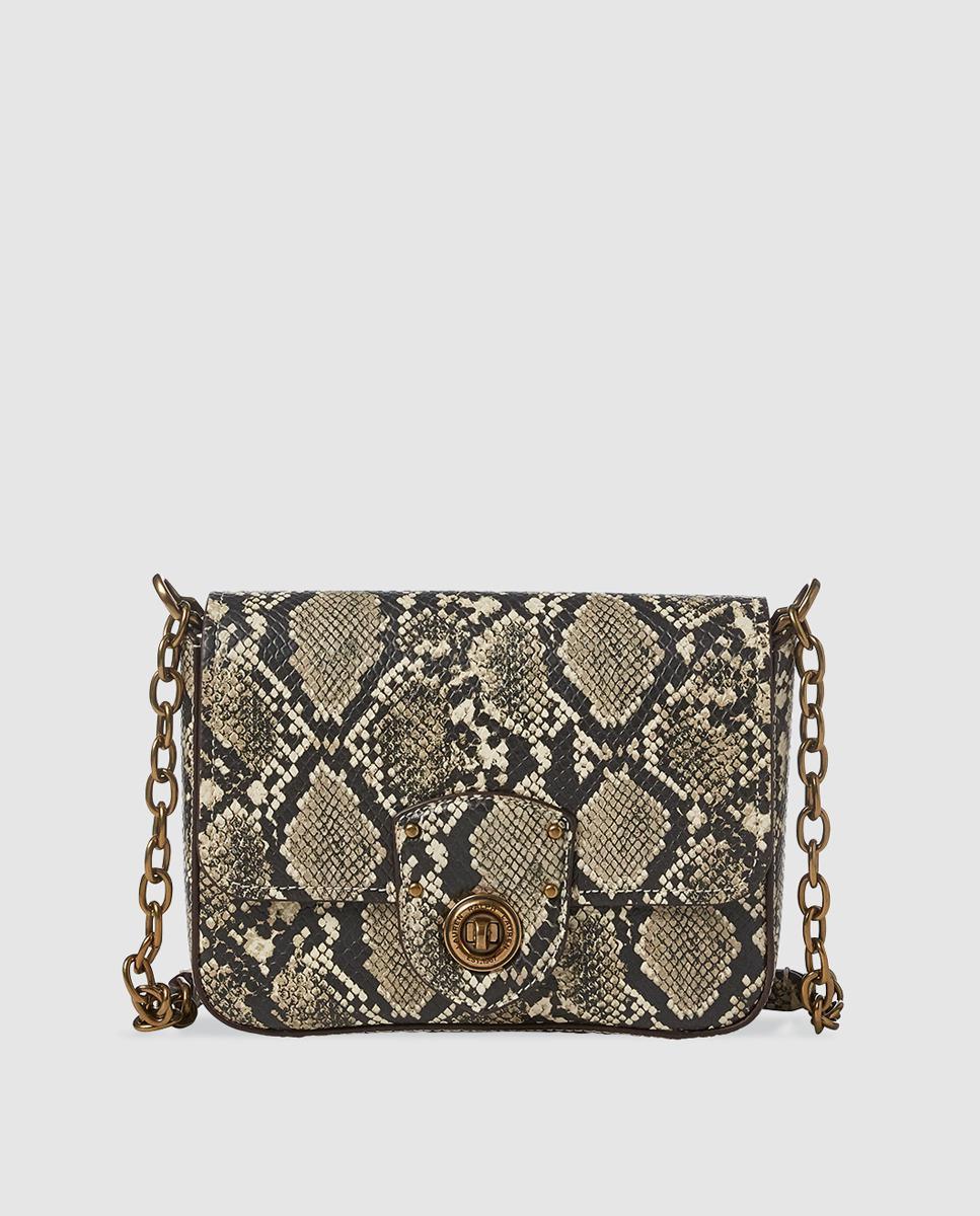 51a2dd856207 Lauren by Ralph Lauren. Women s Small Leather Snakeskin Print Crossbody Bag