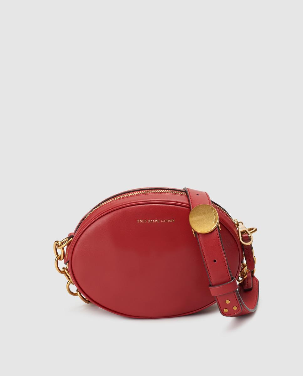 3108791dc9 Polo Ralph Lauren - Red Cowhide Leather Mini Crossbody Bag - Lyst. View  fullscreen