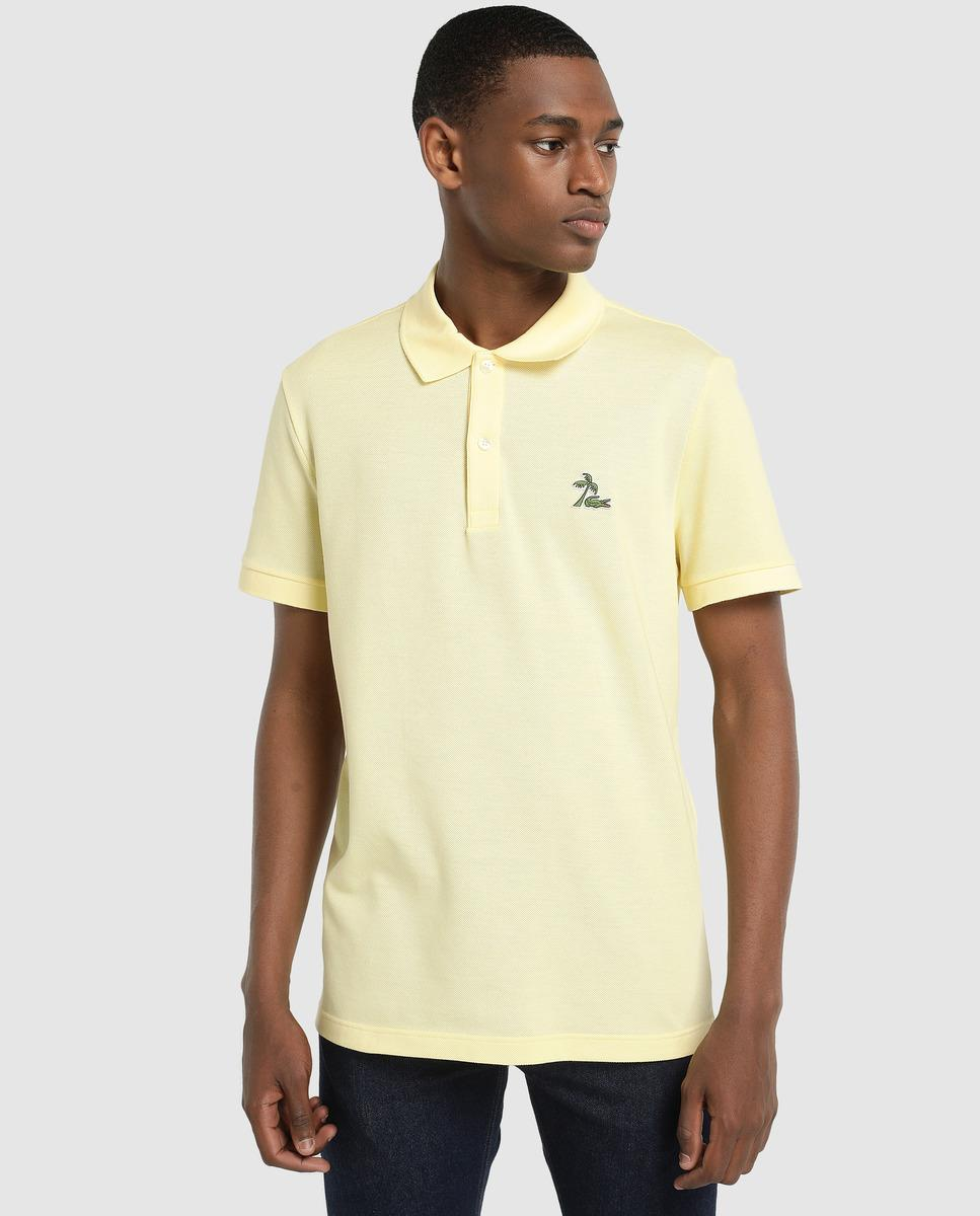 55db95d79 Lyst - Lacoste Regular-fit Yellow Short Sleeve Polo Shirt in Yellow ...