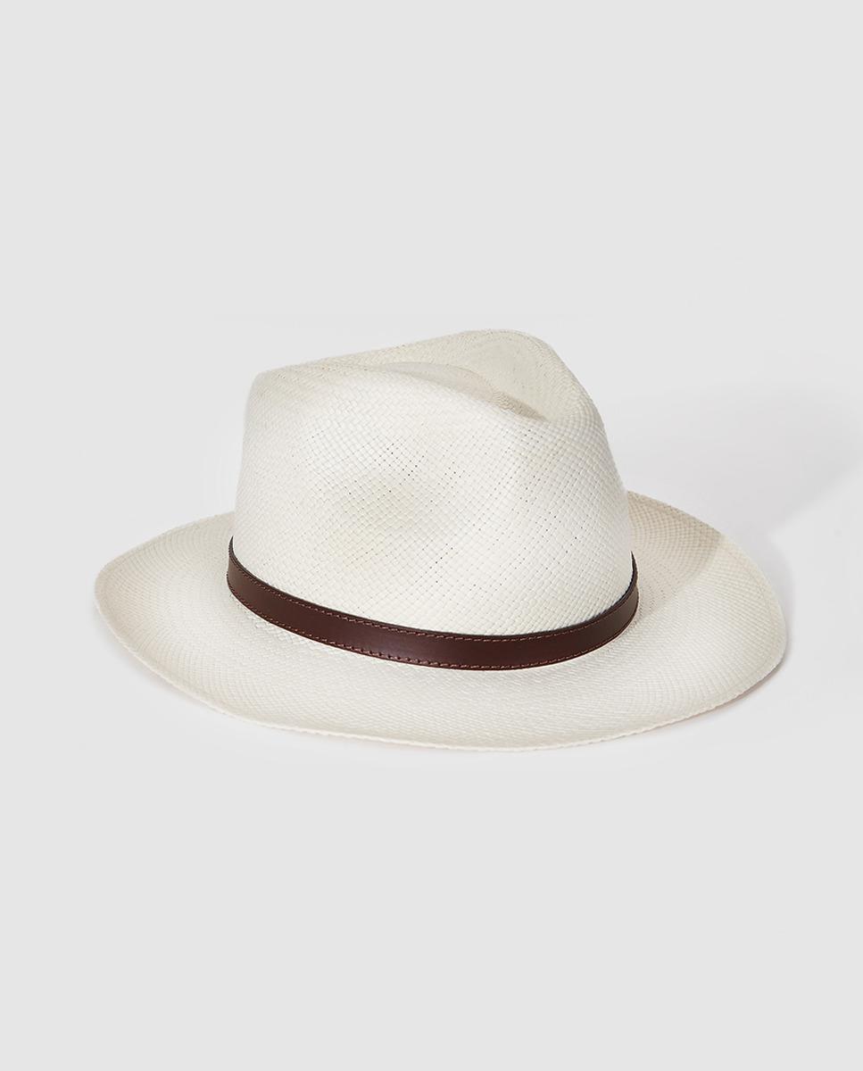 c8171df11f0 Lyst - El Corte Inglés Wo Tan Fedora Hat in Natural