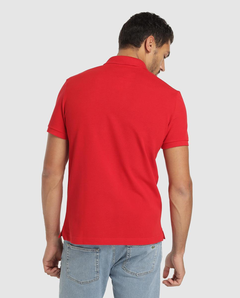 Red Lacoste Slim Polo For Fit Shirt Lyst In Short Men Sleeve Piqué LGzSMqUVp