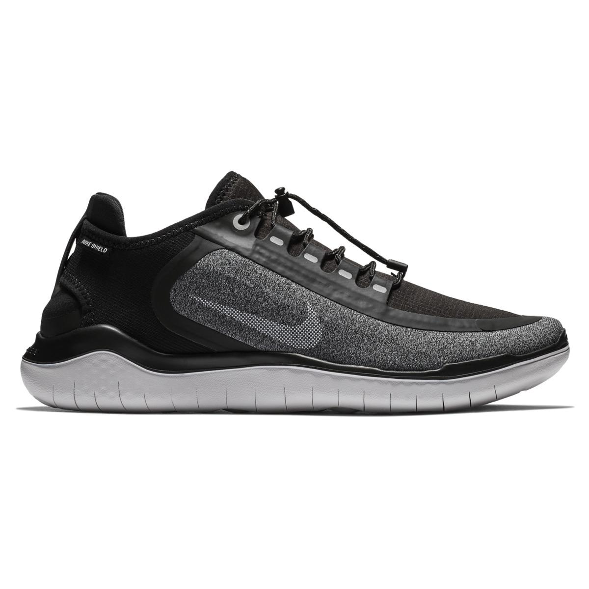 16a2afd7288f4 Nike Free Rn 2018 Shield Training Shoes in Black for Men - Lyst