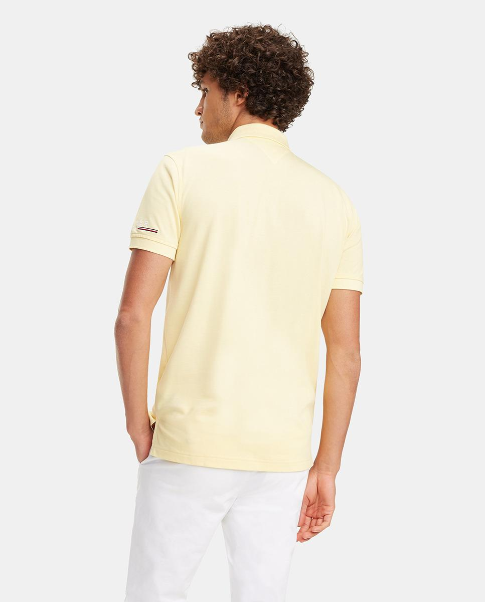78d1841d7 Lyst - Tommy Hilfiger Regular-fit Yellow Short Sleeve Piqué Polo Shirt in  Yellow for Men