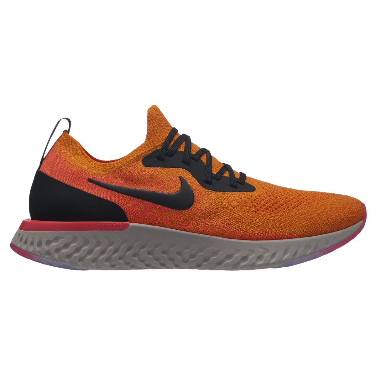 60b508d4047a Nike Epic React Flyknit Running Shoes in Orange for Men - Lyst