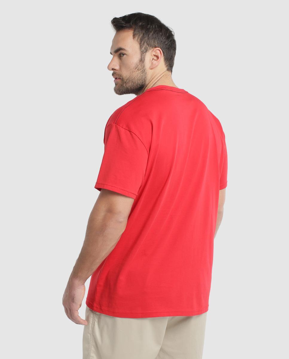 Camiseta Tallas Corta Red Gant In De Hombre Manga Grandes Rojo Nnvym80OPw