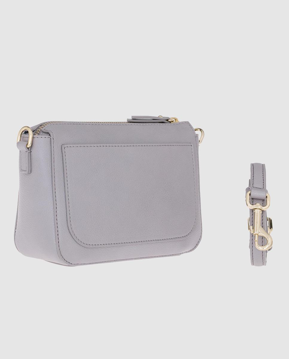 c8dc3ceaf4b Tommy Hilfiger Small Silver-toned Crossbody Bag With Brand Charm in  Metallic - Lyst