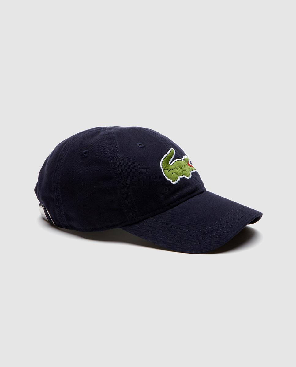fd733d6072b Lacoste Big Croc Gabardine Cap (sinople) Baseball Caps in Blue for ...