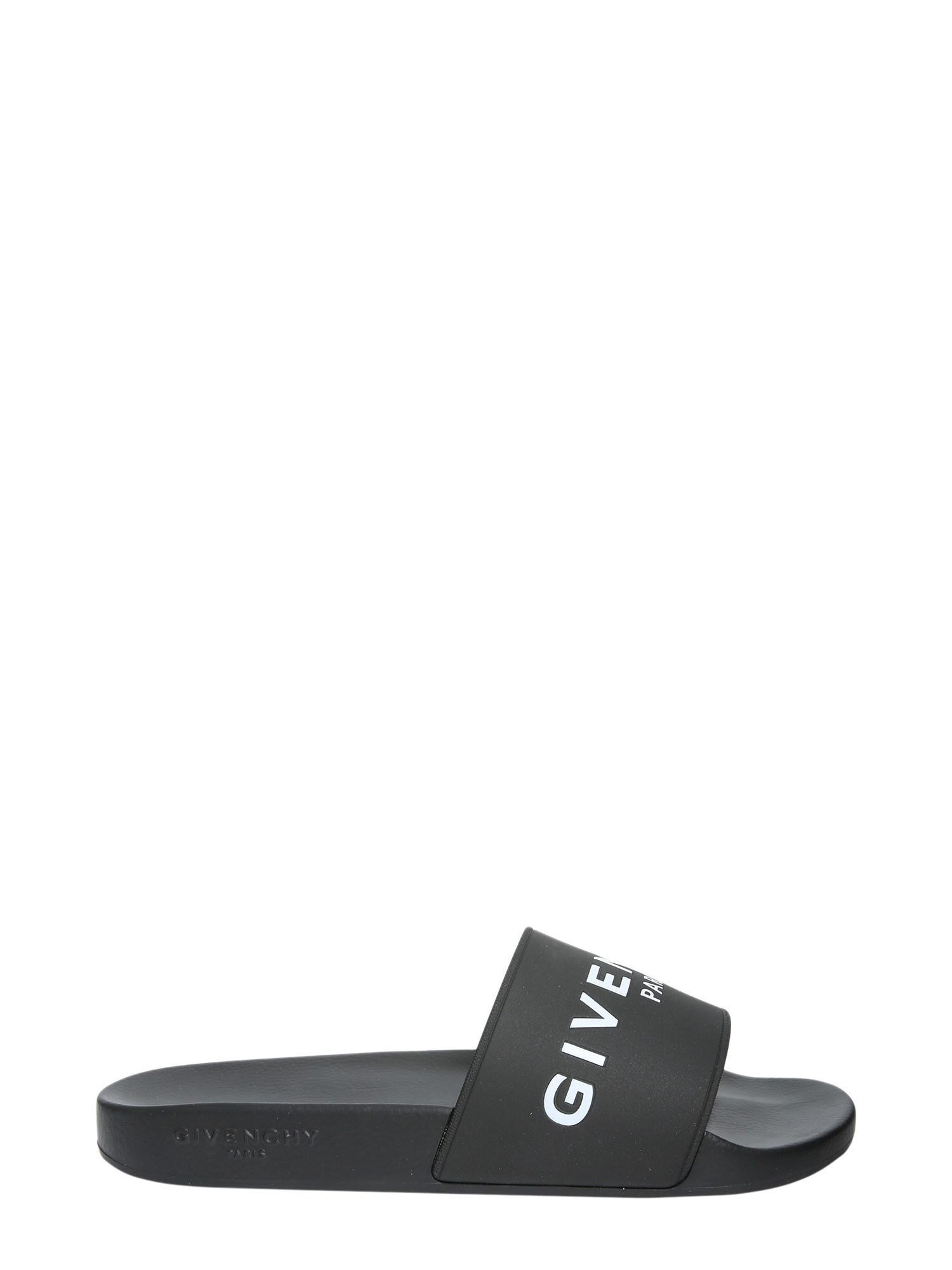 6d260c68541e Lyst - Givenchy Sandalo Slide In Gomma Con Logo in Black for Men ...