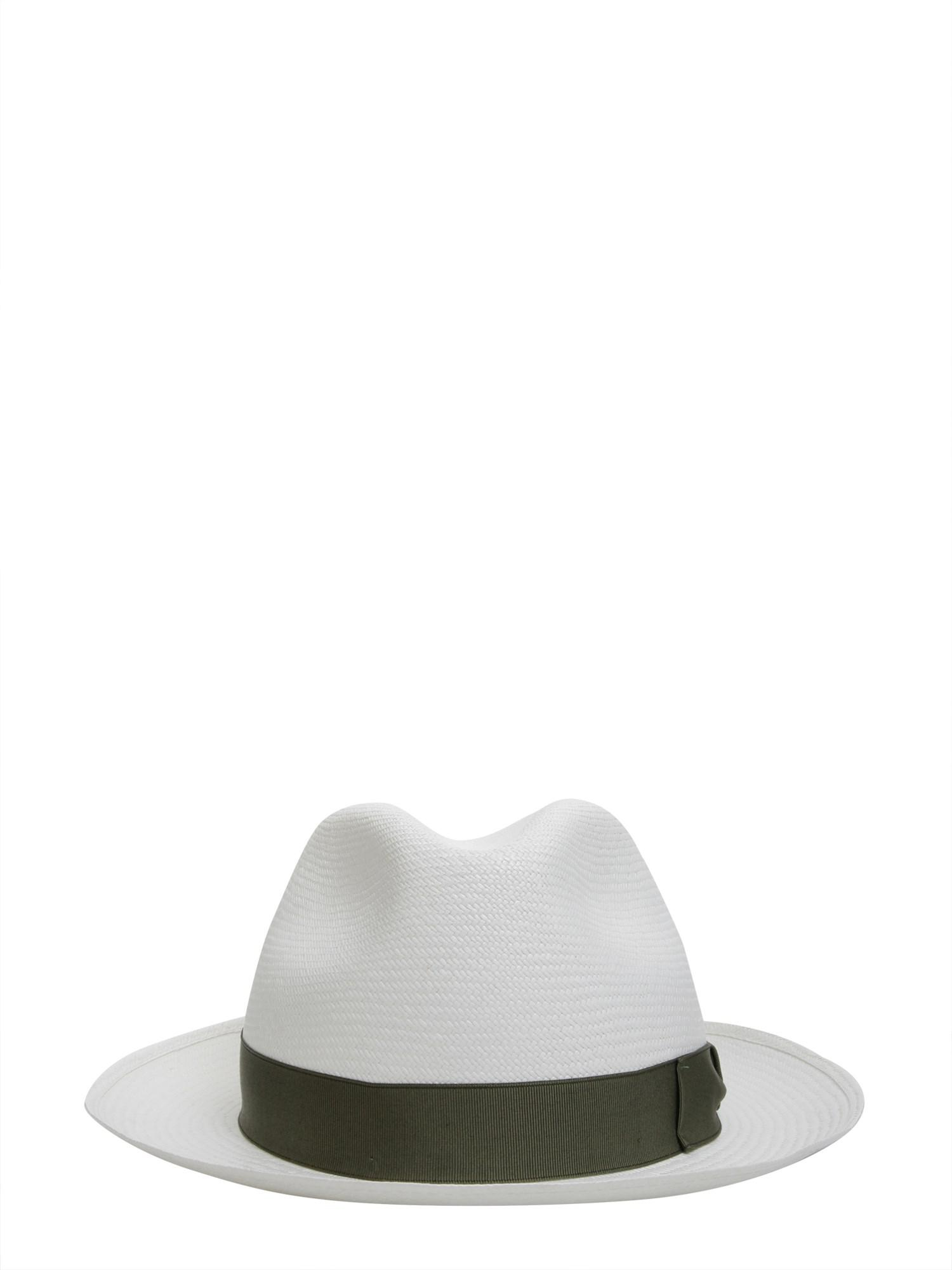 Borsalino - White Cappello Panama Fine Tesa Media In Paglia for Men - Lyst.  View fullscreen 00a553abdf1a